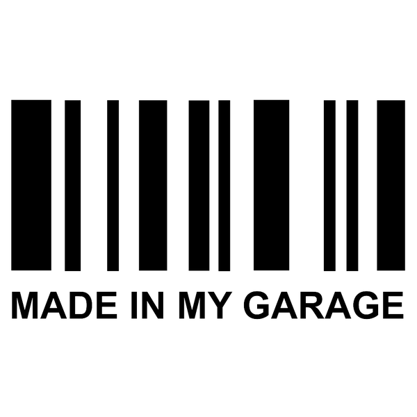 Made in my garage: Barcode - стикер за кола