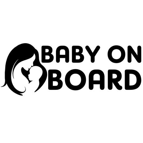 Baby on board (mother) - стикер за кола